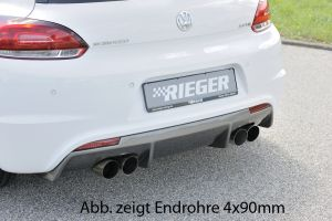 Rieger middendemper | Scirocco 3 (13): 08.08- - 2-drs. | stuk rvs | Rieger Tuning