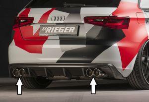 Bull-X einddemper vanaf katalysator Audi A3 (8V) 1.4 TFSI, 1.8 TFSI | Audi A3 8V 2013-2016 3D/5D | stuk rvs | Rieger Tuning