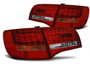 Achterlichten Set | Audi A6 4F 6C Avant 2005-2008 | Rood wit | Led | OEM Style