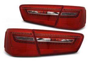 Achterlichten Set | Audi A4 C7 sedan 2011-2014 | Rood wit | Led | OEM Style