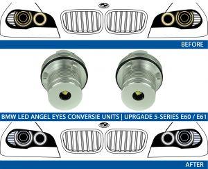 LED Angel Eyes upgrade kit 7000K BMW E39 E53 E60 E61 E63 E64 E65 E66 E87 (25W)