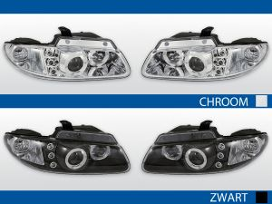 chrysler voyager koplampen met angel eyes in chroom of zwart