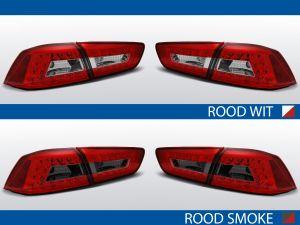 achterlichten mitsubishi lancer 8 rood/wit of rood/smoke