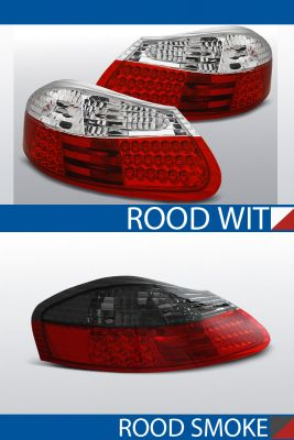 achterlichten porsche boxer 986 rood/wit of rood/smoke