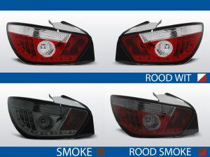 achterlichten seat ibiza 6j rood/wit, rood/smoke of smoke