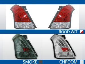 achterlichten suzuki swift rood/wit, chroom of smoke