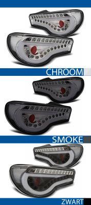 achterlichten toyota gt86 chroom, smoke of zwart
