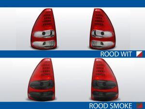 achterlichten toyota land cruiser 120 rood/wit of rood/smoke