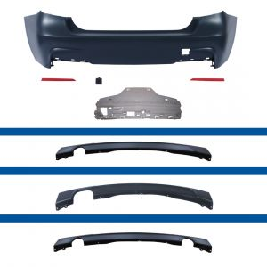 Achterbumper | BMW 3-serie sedan  f30 2012- | voor M-Pakket | ABS Kunststof