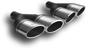 Uitlaat sierstuk | dubbel ovaal | 90MM x 65 MM| Ulter Sport | N2-57L / N2-57P