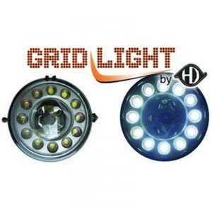 Dagrijverlichting set MINI 06-10 R87 zilver met dimfunctie