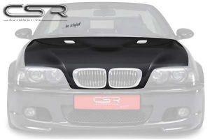 Motorkap geschikt voor BMW E46 coupé en cabrio in E90 m3-look met powerdome