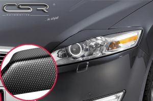 Koplampspoilers | Ford  Mondeo BA7 alle 2007-12/2010 | ABS Carbon Look