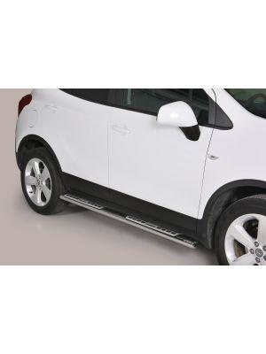 Side Bars | Opel | Mokka 12-16 5d suv. / Mokka X 16- 5d suv. | rvs zilver Design Side Protection RVS