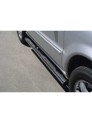 Side Bars | Mercedes-Benz | M-klasse 01-05 5d suv. W163 | RVS | 270/400 CDI