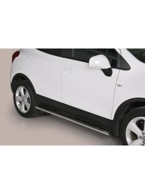 Side Bars | Opel | Mokka 12-16 5d suv. / Mokka X 16- 5d suv. | rvs zilver Oval Grand Pedana RVS