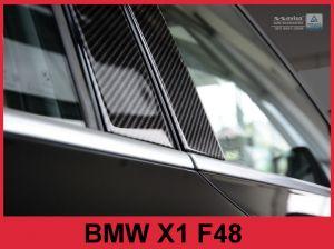 Sierlijsten B-Stijl | BMW | X1 15- 5d suv. F48 | Carbon zwart