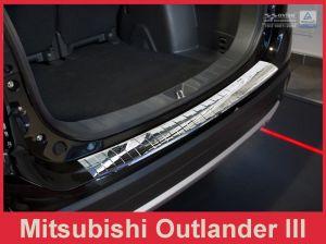 Achterbumperbeschermer | Mitsubishi | Outlander 15- 5d suv. | RVS