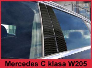 Sierlijsten B-Stijl | Mercedes-Benz | C-klasse 14- 4d sed. W205 | Carbon zwart