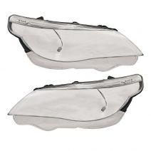 Koplampglas link en/of rechts | BMW 5-serie E60 E61 2003-2007 | Voor halogeen en xenon koplampen | met LED markeerlicht-lr