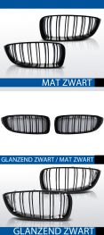 Grillen set | Nieren | BMW 4-Serie F32 F33 F36 | Performance M4 look | zwart