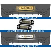 led kentekenverlichting voor volvo modellen c70/s40/s60/s80/v50/v60/v70/xc60/xc70/xc90