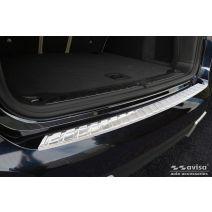 Achterbumperbeschermer   BMW   iX3 20- 5d suv. G08   Ribs   RVS