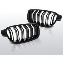 M3 / M4 Look zwarte nieren voor BMW 3-serie sedan F30 en F31 modellen, in hoogglans zwart of mat zwart