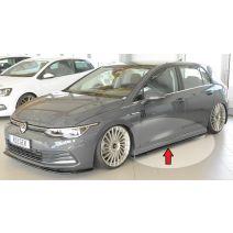 Side skirt aanzetstuk | Volkswagen | Golf 8 Hatchback 2020- | stuk abs | Rieger Tuning