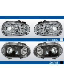 Koplampen Golf 4   R32-Look   Xenon look lens