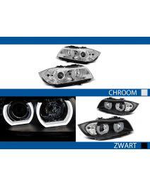 Koplampen   BMW 3-serie Sedan E90 / Touring E91 2005-2008   3D LED Angel Eyes