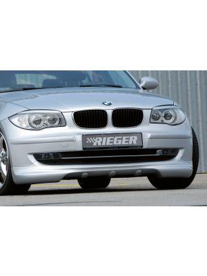 Rieger spoilerlip   1er E87 (187 / 1K2/1K4): 04.07-08.11 (vanaf Facelift) - 4-drs.   stuk ongespoten abs   Rieger Tuning