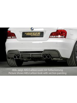 Diffuser | BMW 1-Serie Cabrio / Coupé E82/E88 2007-2011 | stuk abs | Rieger Tuning