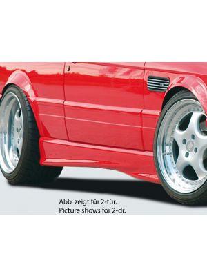 Side skirt | BMW 3-Serie Sedan / Touring E30 | stuk ongespoten abs | Rieger Tuning