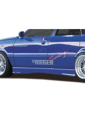 Side skirt | Audi 80/90 Sedan (Type 89) B3 1986-1991 | stuk ongespoten abs | Rieger Tuning