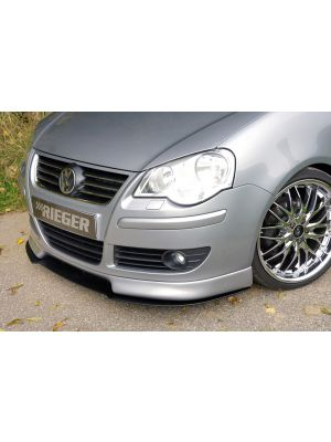 Rieger frontspoiler | Polo 5 (9N): 00.06- (vanaf Facelift) - 3-drs., 5-drs. | stuk ongespoten abs | Rieger Tuning
