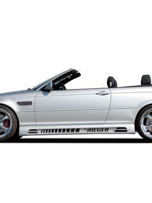 Side skirt   BMW 3-Serie Sedan / Compact / Cabrio / Coupé E46   stuk ongespoten abs   Rieger Tuning