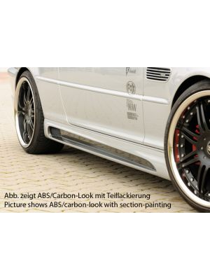 Side skirt | BMW 3-Serie Sedan / Touring / Compact / Cabrio / Coupé E46 | stuk abs | Rieger Tuning