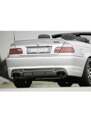 Achterbumper   BMW 3-Serie Sedan / Cabrio / Coupé E46 2001-2005   stuk ongespoten abs   Rieger Tuning