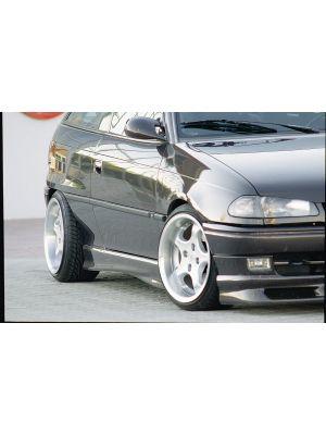 Side skirt | Opel Astra F Hatchback (3D/5D) 1991-1998 | stuk ongespoten abs | Rieger Tuning