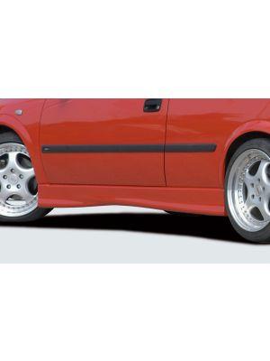 Side skirt | Opel Astra G 3-deurs 1998-2004 | stuk ongespoten abs | Rieger Tuning