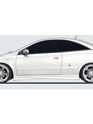 Side skirt | Opel Astra G Cabrio / Coupé 1998-2004 | stuk ongespoten abs | Rieger Tuning