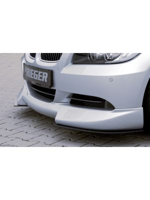 Rieger frontspoiler   3-Serie E90: 03.05-08.08 (tot Facelift) - Lim.  3-Serie E91: 08.05-08.08 (tot Facelift) - Touring   stuk ongespoten abs   Rieger Tuning