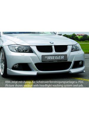 Voorbumper   BMW 3-Serie Sedan E90 / Touring E91 2005-2008   stuk ongespoten abs   Rieger Tuning