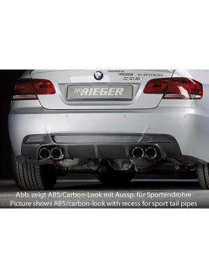 Diffuser | BMW 3-Serie Cabrio E93 / Coupé E92 2007-2013 | stuk abs | Rieger Tuning