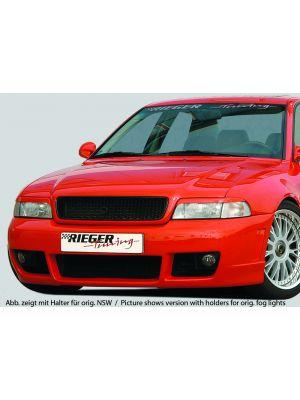 Voorbumper   Audi A4 Sedan / Avant (B5) 1995-2001   stuk ongespoten abs   Rieger Tuning