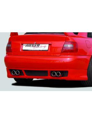 Rieger achterskirt RS-Four-Look | A4 (B5): 99-12.00 - Lim., Avant | stuk ongespoten abs | Rieger Tuning