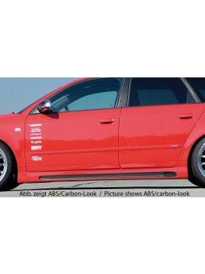 Side skirts   Audi A4 sedan / Avant (8E) B6 + B7    abs   Rieger Tuning