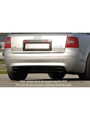 Achteraanzetstuk | Audi A6 Avant (4B) 2001-2004 | stuk ongespoten abs | Rieger Tuning