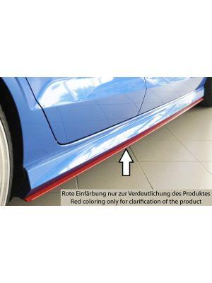 Side skirt aanzetstuk | Audi A3 8V S-Line Cabrio 2013-2016 | stuk ongespoten abs | Rieger Tuning